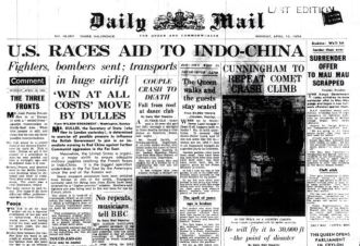 scanned by EPD from photocopyDaily Mail front page April 12, 1954
